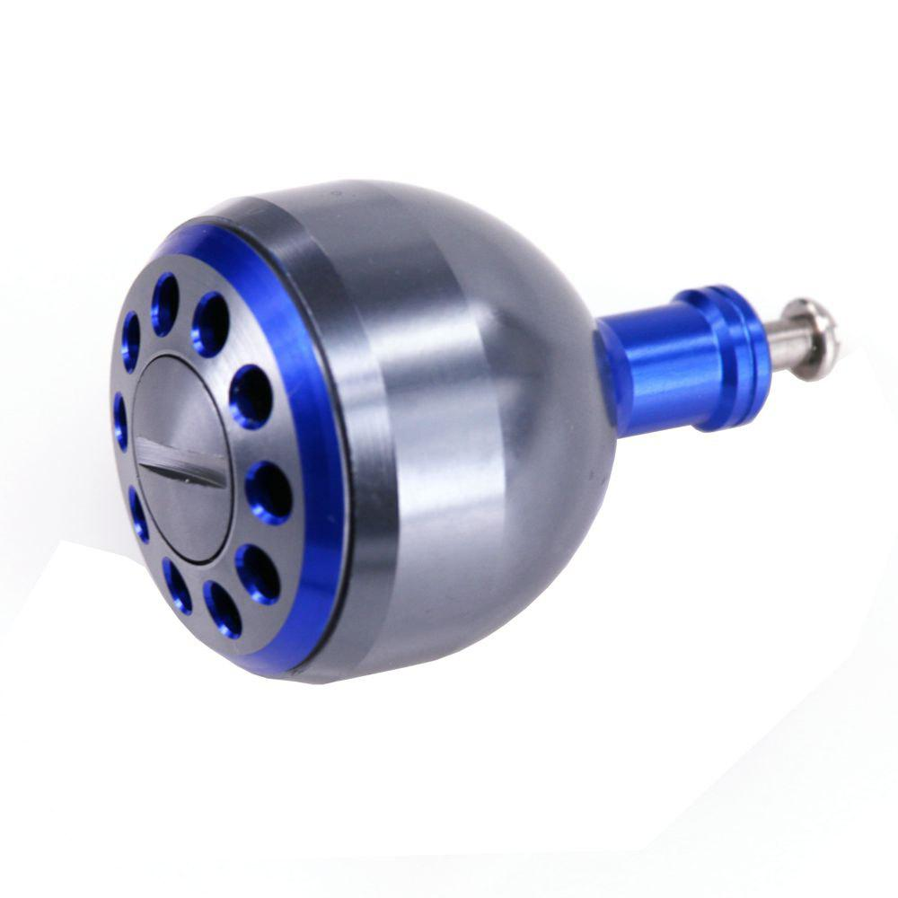 DEUKIO New Fishing Reel Handle CNC Carved Knob Size 38mm For The Baitcasting Round Reel - BLUE 38MM