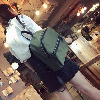Oxford Cloth Trendy Large Capacity Fashion Wild Ladies Backpack - GREEN