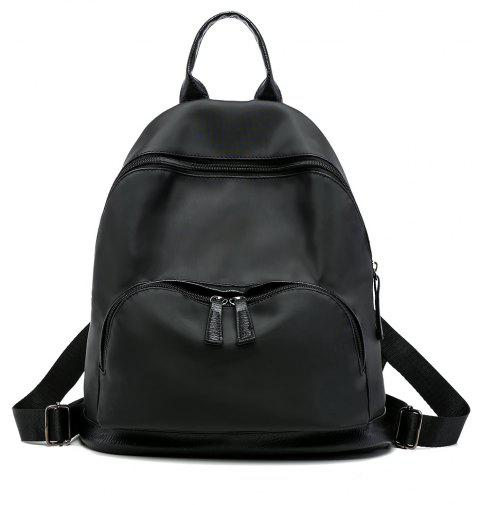Oxford Cloth Large Capacity Wild Fashion Simple Ladies Backpack - BLACK