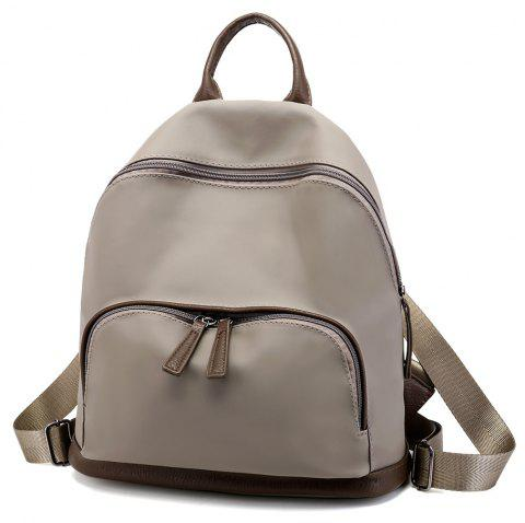 Oxford Cloth Large Capacity Wild Fashion Simple Ladies Backpack - KHAKI