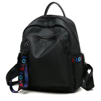 Oxford Cloth Large Capacity Wild Fashion Trendy Ladies Backpack - BLACK
