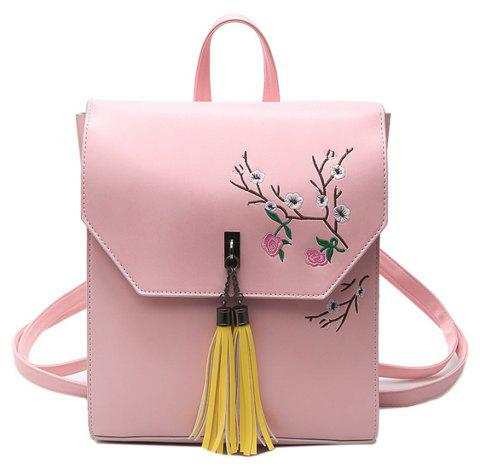 Tassel Small Fresh Wild Fashion Trendy Ladies Backpack - PINK