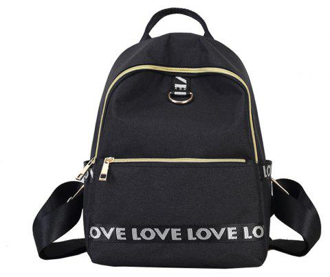 Oxford Cloth Large Capacity Wild Fashion Simple Simple Fresh Cute Ladies Backpack - BLACK