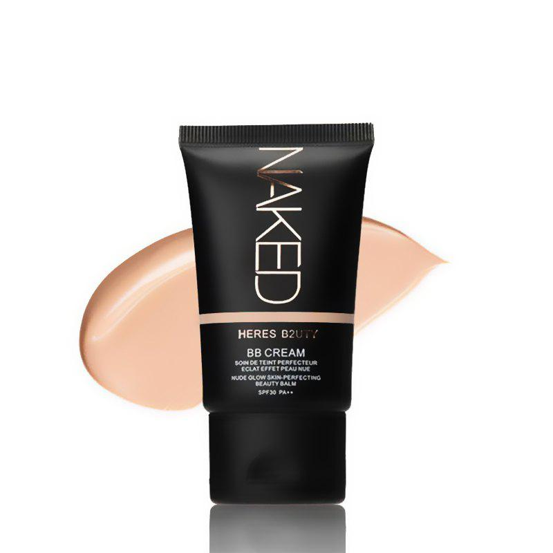 HERES B2UTY Strong Isolation Perfect Cover BB Cream Nude Glow Skin Whitening Compact Foundation Makeup 35g -
