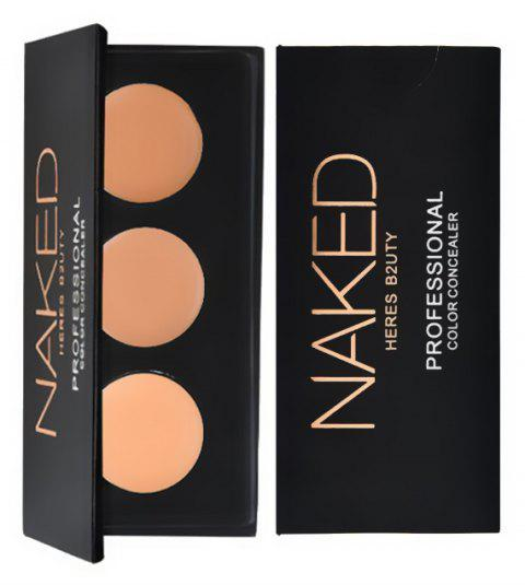 HERES B2UTY 3Colors Concealer Professional Face Concealer Cream Contour Palette Makeup Highlighter Camouflage - 12
