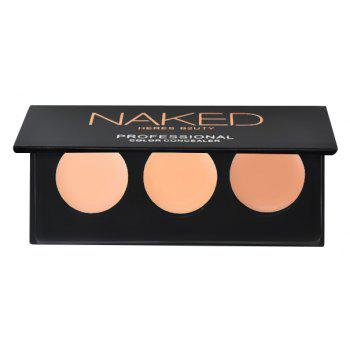 HERES B2UTY 3Colors Concealer Professional Face Concealer Cream Contour Palette Makeup Highlighter Camouflage -