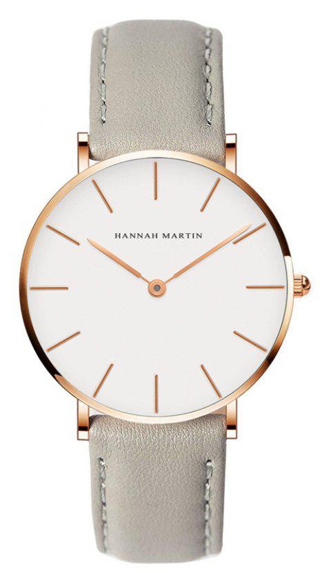 Hannah Martin CB36 Waterproof Business Casual  Band with Ultra-Thin Quartz Watch - GRAY