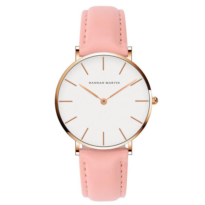 Hannah Martin CB36 Waterproof Business Casual  Band with Ultra-Thin Quartz Watch - PINK