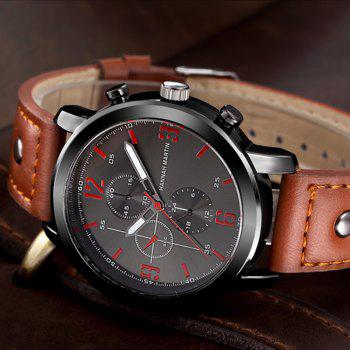 Hannah Martin 2012 Men Business Sports Fashion Casual Fashion Quartz Watch - RED