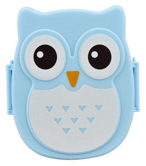 Owl Lunch Food Container Storage Box Portable - BLUE