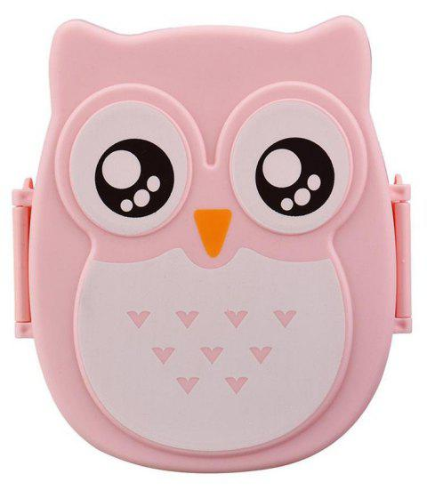 Owl Lunch Food Container Storage Box Portable - PINK