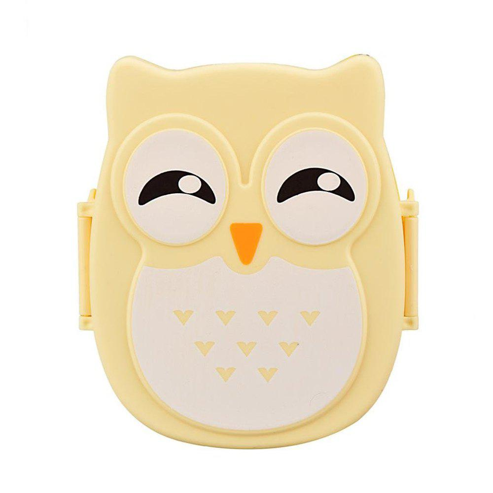 Owl Lunch Food Container Storage Box Portable - YELLOW