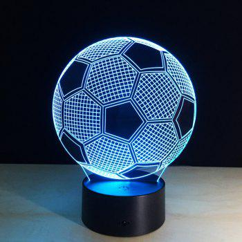 Creative Football 3D LED Illusion Night Light Touch 7 Color Table Desk Lamp - COLORMIX
