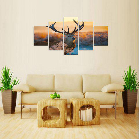 MailingArt FIV241 5 Panels Landscape Wall Art Painting Home Decor Canvas Print - multicolor 12X16INCH 2PCS, 12X24INCH 2PCS, 12X32INCH 1PC