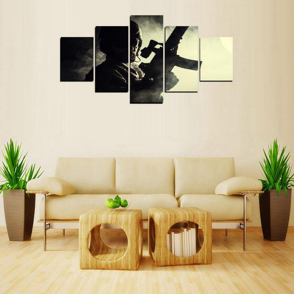 MailingArt FIV243  5 Panels Landscape Wall Art Painting Home Decor Canvas Print - COLORMIX