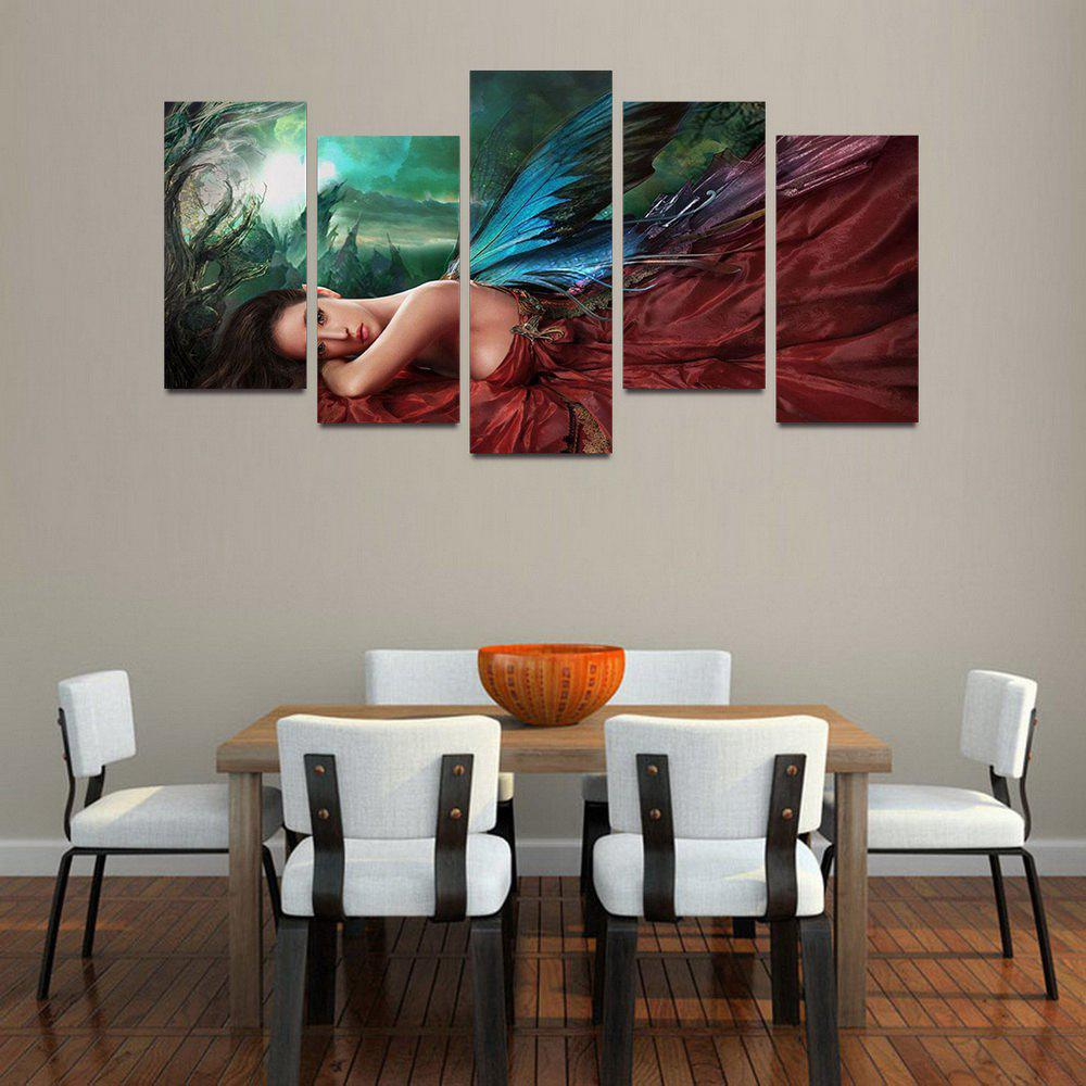 MailingArt F045 5 Panels Landscape Wall Art Painting Home Decor Canvas Print - COLORMIX