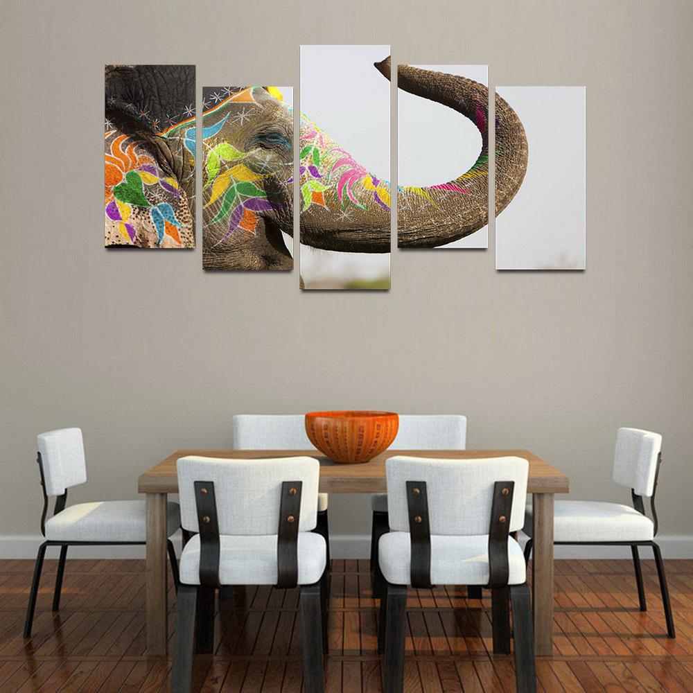 MailingArt F056 5 Panels Landscape Wall Art Painting Home Decor Canvas Print - COLORMIX