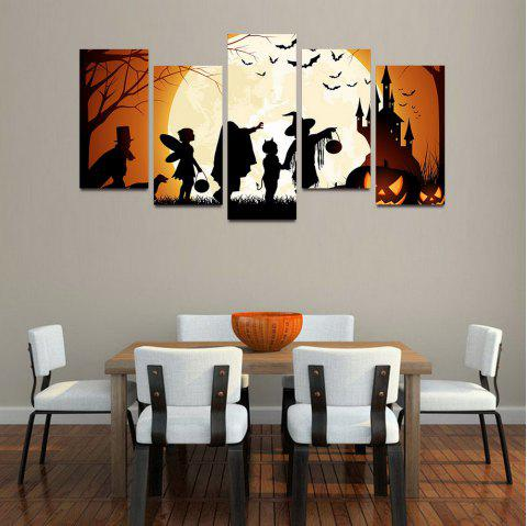 MailingArt F057 5 Panels Landscape Wall Art Painting Home Decor Canvas Print - multicolor 12X24INCH 4PCS, 12X32INCH 1PC
