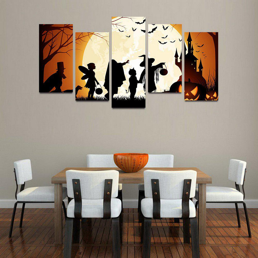 MailingArt F057 5 Panels Landscape Wall Art Painting Home Decor Canvas Print - COLORMIX