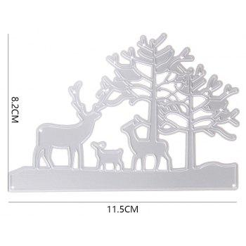 Embossing Steel Cutting Dies Stencils DIY Scrapbooking Card Album Photo Painting Template Craft - SILVER 1INCH*1INCH