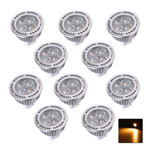 10PCS YWXLight MR16 3030SMD Decorative Spotlight Lamp AC / DC 12V - WARM WHITE LIGHT