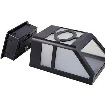 1PCS Polycrystalline silicon solar light-operated Super Bright Wall Mount Outdoor Garden Lamp - WARM WHITE LIGHT