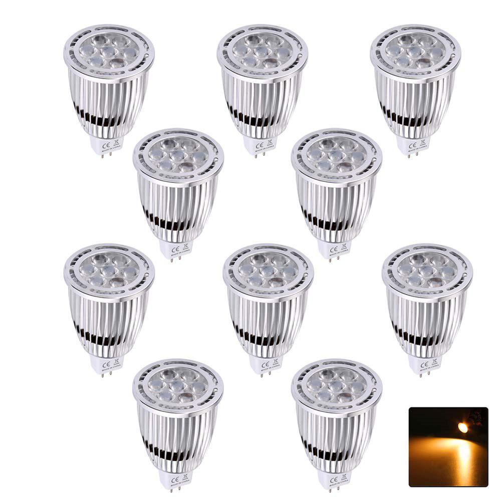 10PCS YWXLight MR16 3030SMD 7-LED Recessed Lighting LED Spotlight AC / DC 12V - WARM WHITE LIGHT