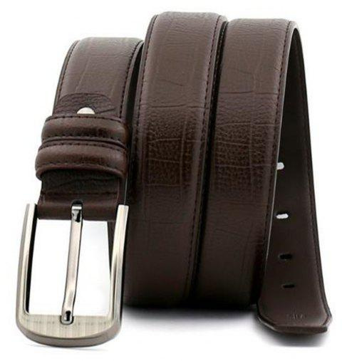 Pin Buckle Leather Men's Leather Belt - BROWN 130CM