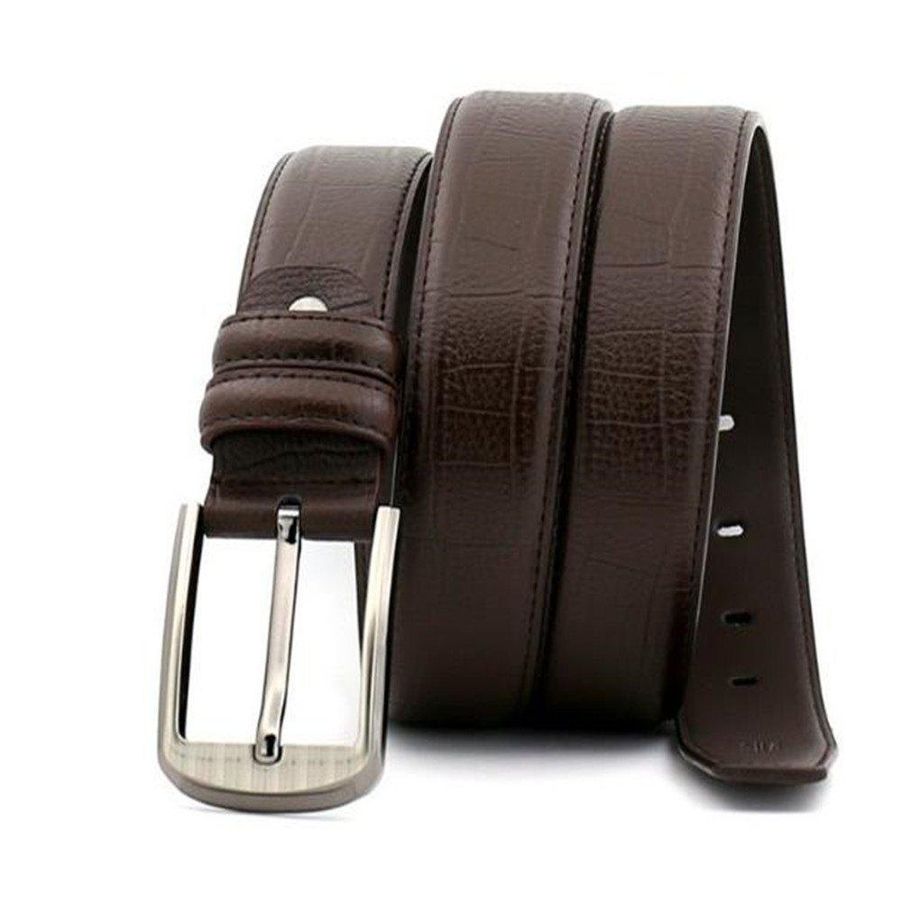 Pin Buckle Leather Men's Leather Belt - BROWN 115CM