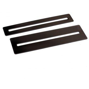 Stainless Steel Fretboard Fret Protector Fingerboard Guards for Guitar Bass Luthier Tools 2PCS - BLACK
