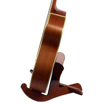 Foldable Wood Wooden Stand Holder for Guitar Electric Bass - YELLOW/RED
