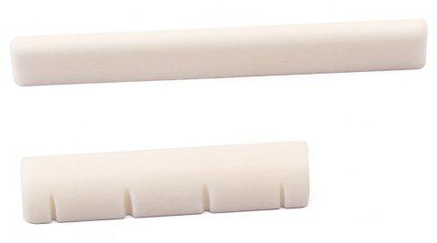 Bone 4 String Saddle and Nut for Ukulele - IVORY COLOR