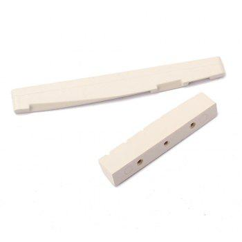 New 6 String POM Material Bridge Pins Saddle Nut Acoustic Guitar Accessories and Parts - IVORY COLOR