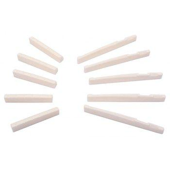 Bone String Bridge Saddle Blank and Nut Set for Acoustic Guitar Musical Instrument New 5 Sets - IVORY COLOR