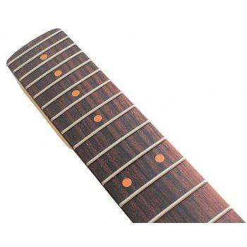 Left Hand Maple Neck Rosewood Fretboard 22 Frets for ST Guitar Replacement - WOODEN BLACK