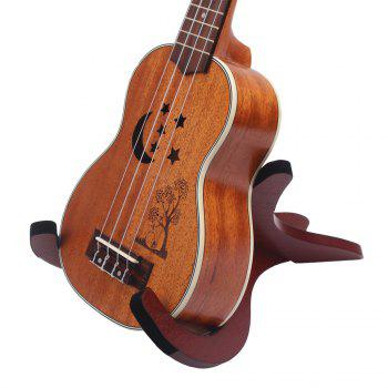 Wood Stand Holder for Ukulele Violin Mandolin Banjo - BROWN