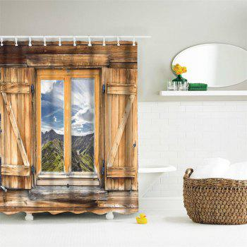 Mountain View Window Polyester Shower Curtain Bathroom  High Definition 3D Printing Water-Proof - COLORMIX W71 INCH * L71 INCH