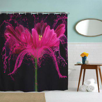 Flower Splash Polyester Shower Curtain Bathroom  High Definition 3D Printing Water-Proof - COLORMIX W71 INCH * L71 INCH