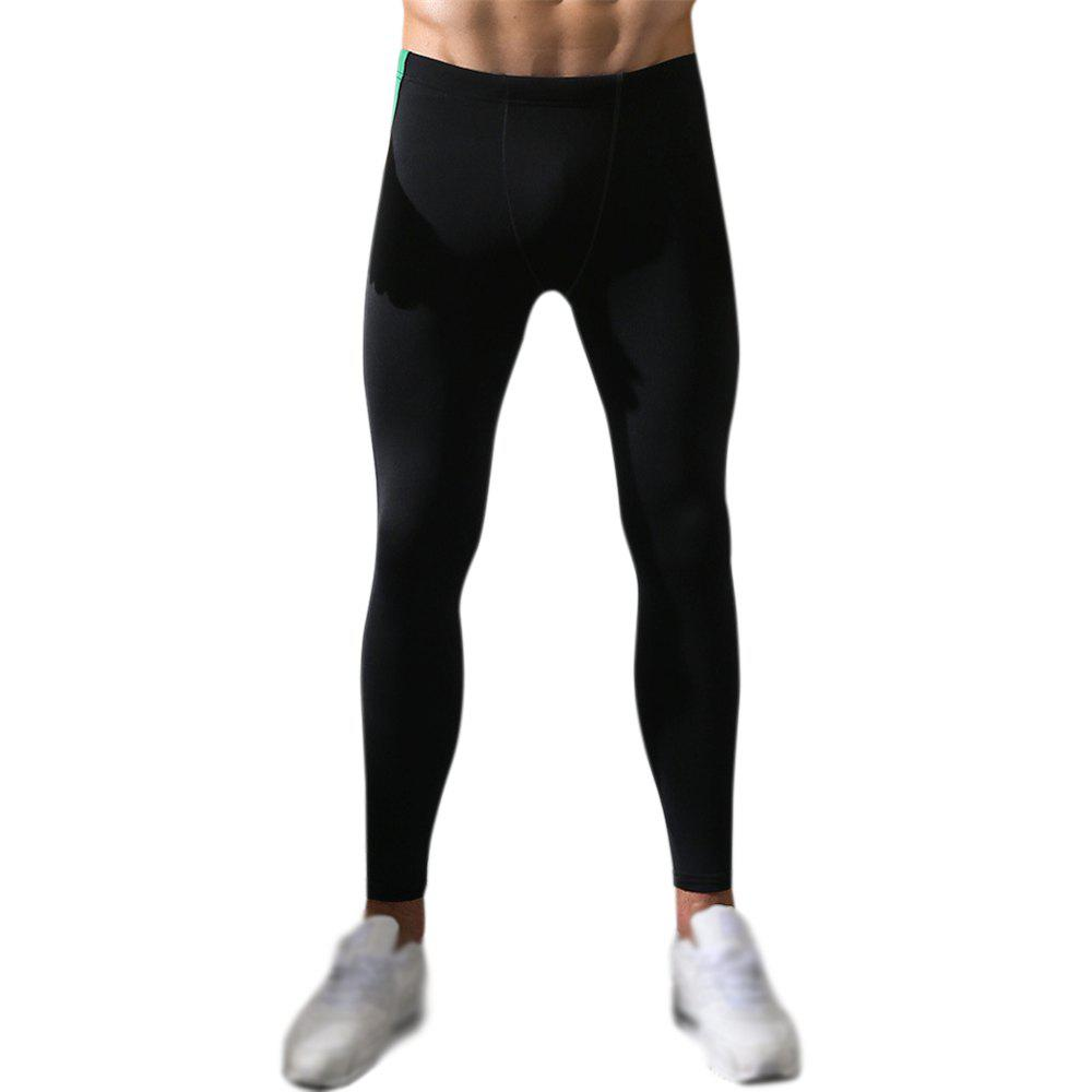 Men's Body and Elastic Pants - BLACK 2XL
