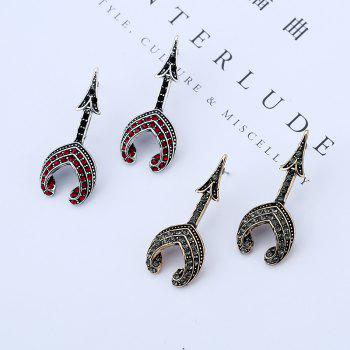 Fashion Tower Type Personality Earrings - BLACK/RED
