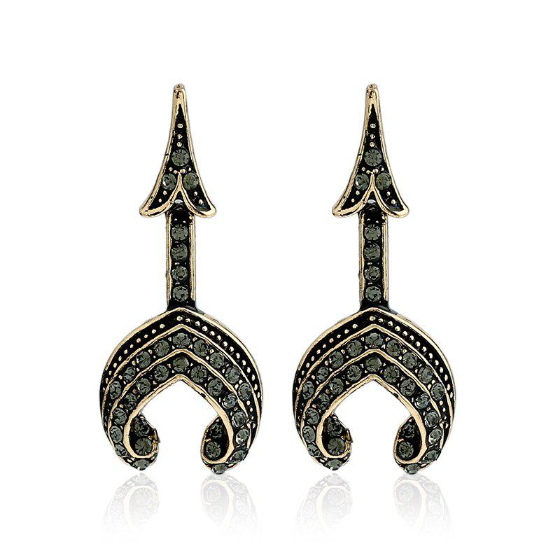 Fashion Tower Type Personality Earrings - BLACK/GREY