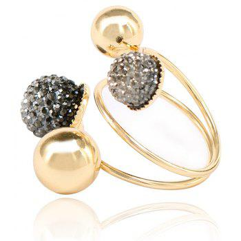 New Fashion Temperament Small Gold Beans Brass Ring - GOLD/BLACK ONE-SIZE