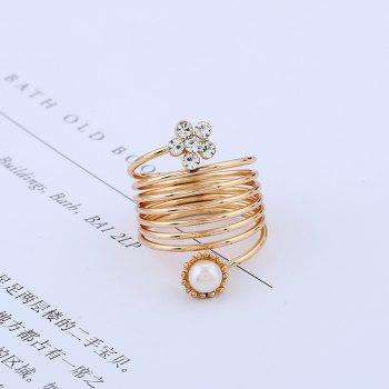 Fashionable Temperament Does Not Fade A Spring Ring - GOLD/WHITE ONE-SIZE