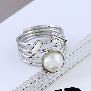 Stylish Multi-layered Personality Ring - WHITE 8