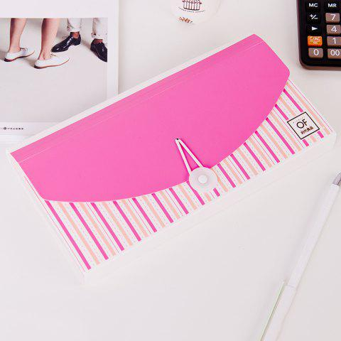 Creative Colorful Organ Notes Packs 13 layers of check invoices Postcard Storage - multicolor A 26X14.7X3.2CM