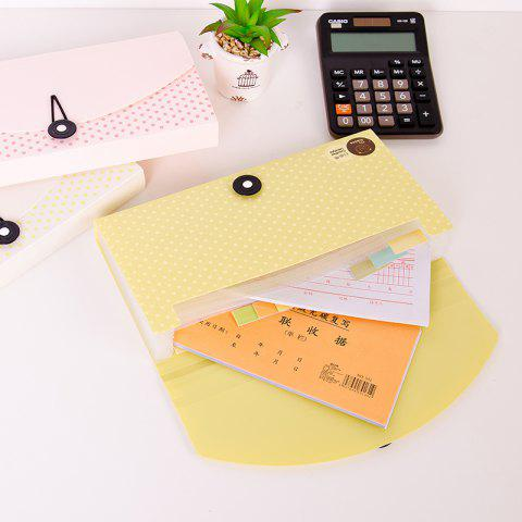 Creative Bear Tissue Bill Packs Multi-Tiered Check Invoice Postcards - YELLOW 26X12.7X3.2CM