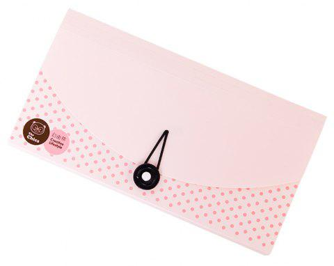 Creative Bear Tissue Bill Packs Multi-Tiered Check Invoice Postcards - PINK 26X12.7X3.2CM