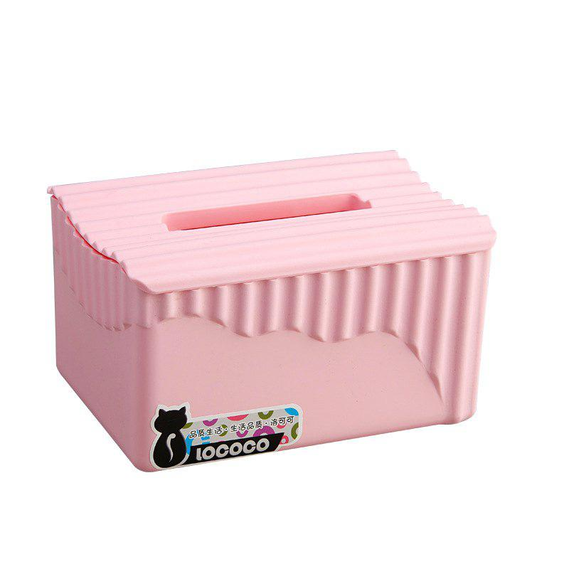 Simple Modern Living Room Napkin Storage Box Plastic - PINK 18X13X10CM