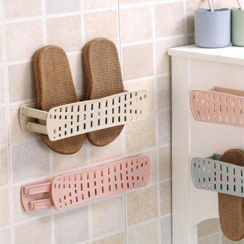 Plain Foldable Wall-mounted Simple Paste Shoe Storage Rack - BEIGE