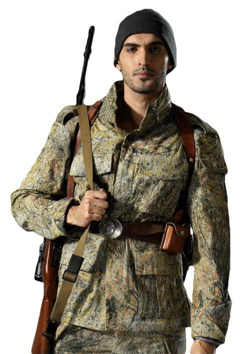 Field Camouflage Outdoor Hunting Snowfield Wear Resistant Training Coat - GRASS GREEN 2XL